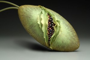 "There are some other interesting bags, including gourds, artichokes, and this ""opening seed pod"" bag."
