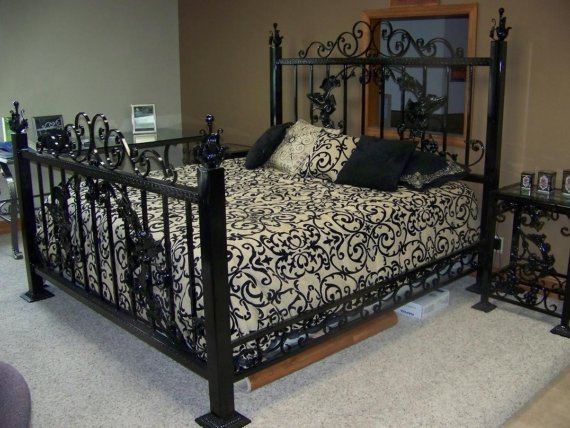 etsy finds wrought iron kurolace. Black Bedroom Furniture Sets. Home Design Ideas