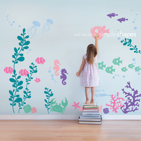 Under The Sea Decals From Simple Shape. $148