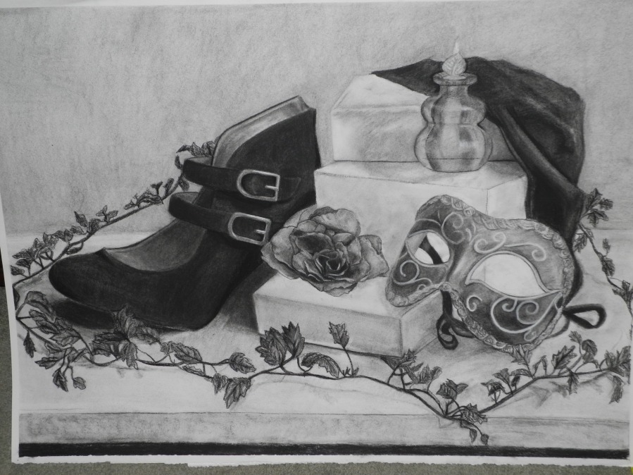 12 hours of charcoal... massive drawing...someone in my class wanted me to give it to them...lol, obviously i said no