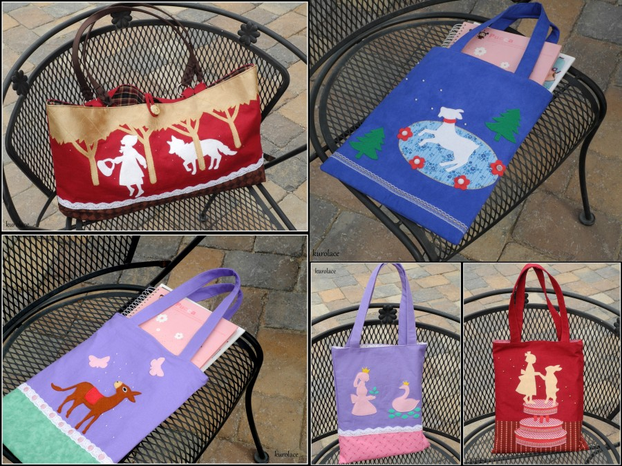 Several bags available in my Etsy store Kurolace